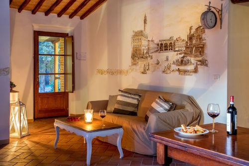 Zimmer mit Fresco-Malerei