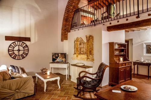 Wohnzimmer in der Luxus - Suite