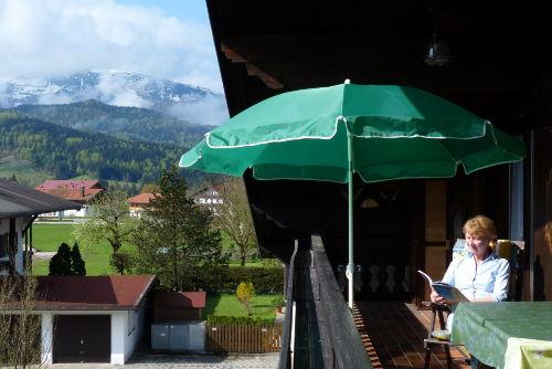 Balkon mit Blick zum Unterberg
