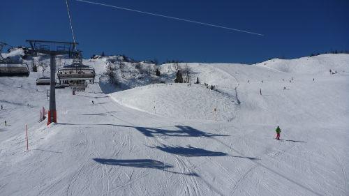 Im Skigebiet Steinplatte