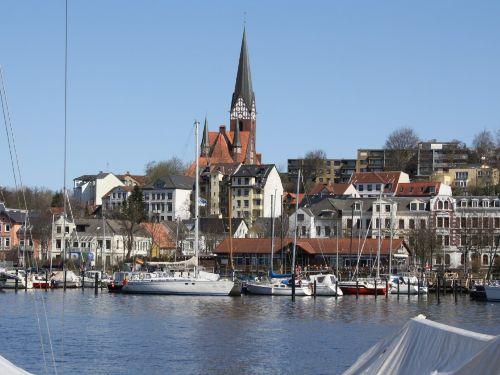 Flensburger Hafen direkt vor der T�r