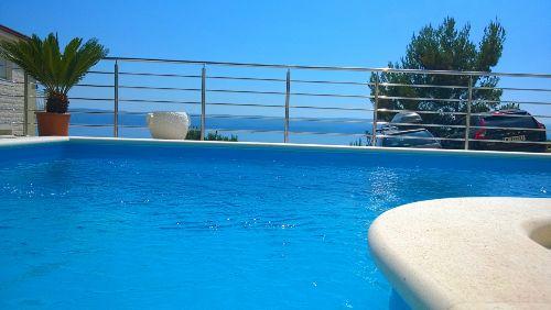 Meerblick vom Pool Villa Divina