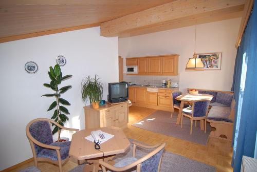 Wohnraum mit Küche - kleine Wohnung