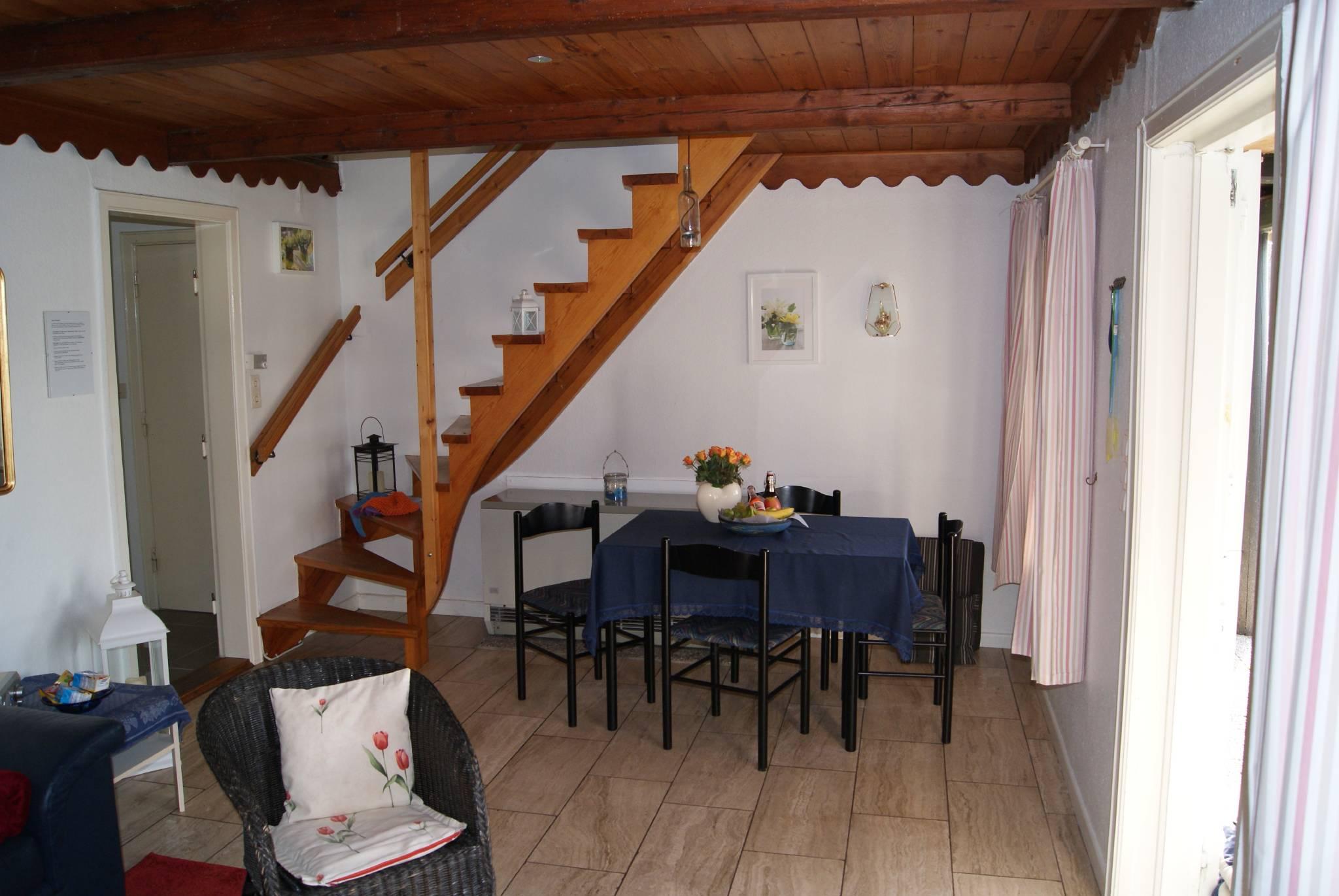 Treppe vom Wohnzimmer zum Schlafzimmer