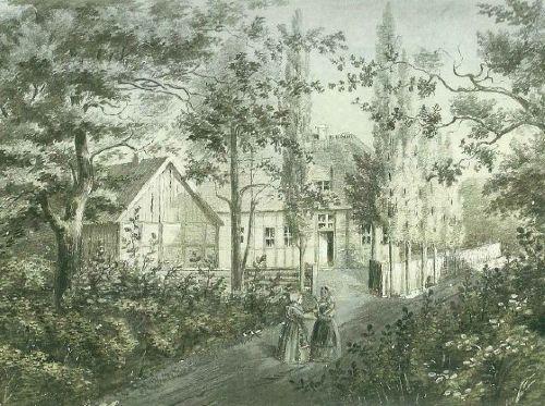 Das Forsthaus im Jahr 1850........