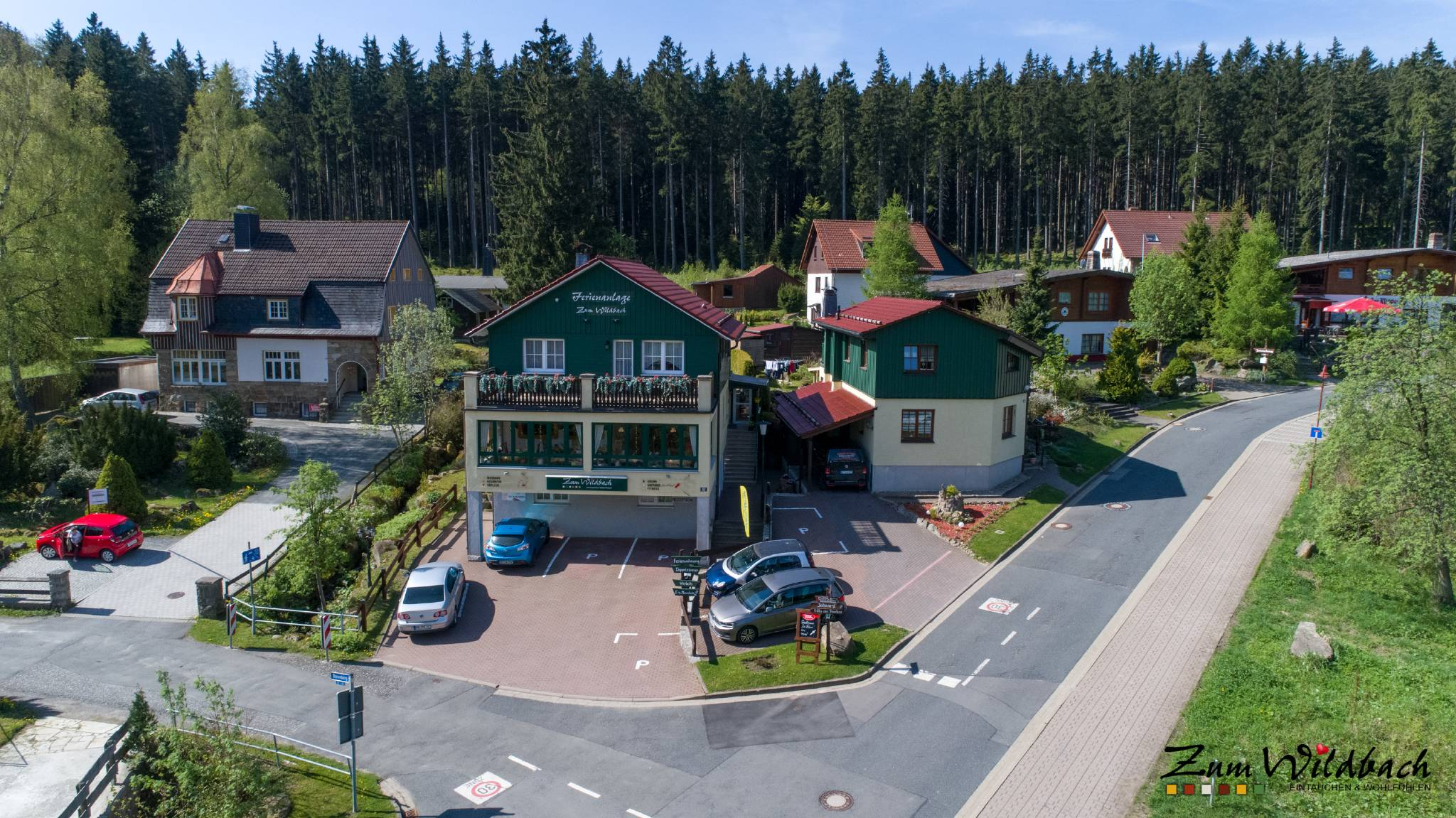 Wohnzimmer Ferienwohnung Wildbach