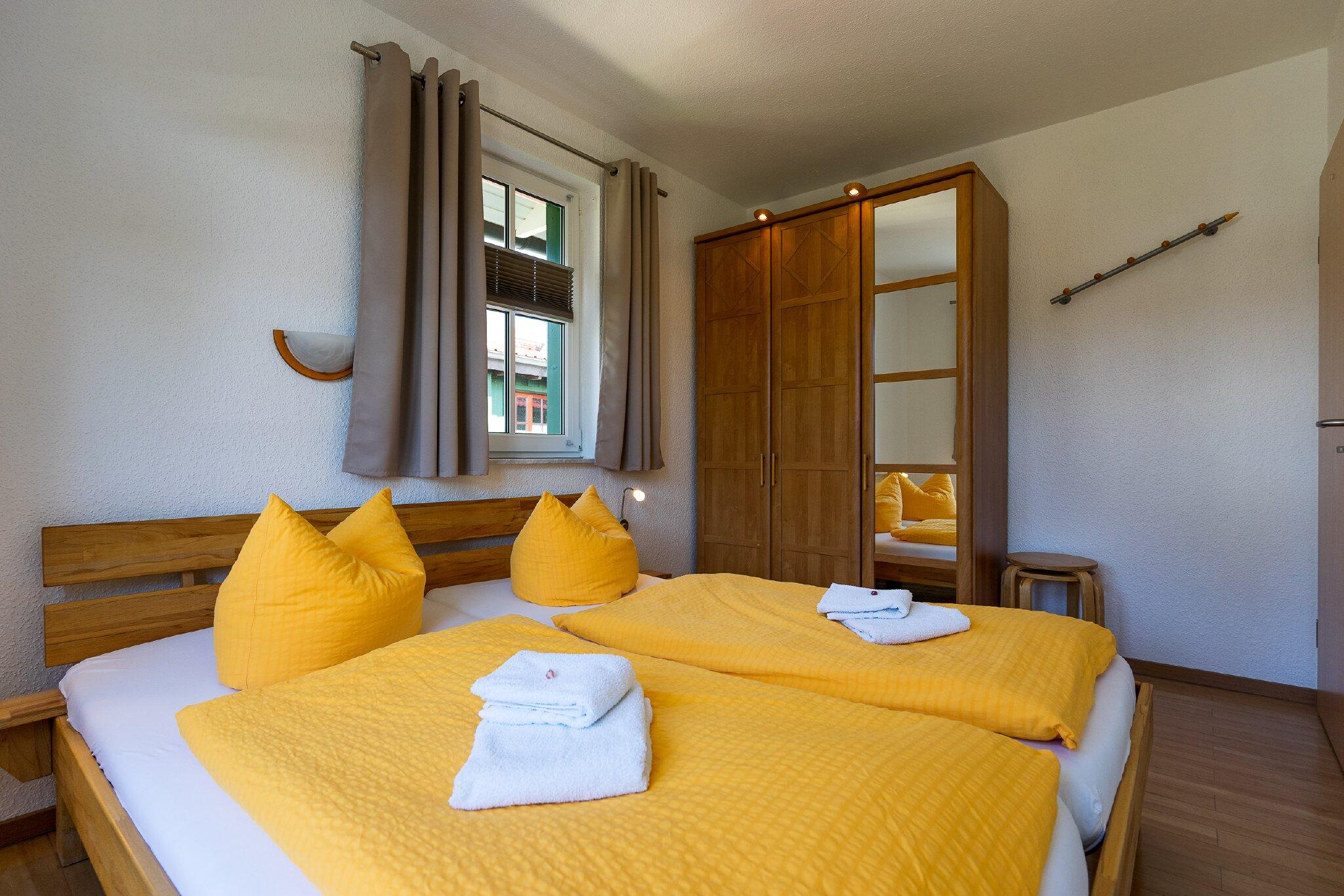 Schlafzimmer der Ferienwohnung Wildbach