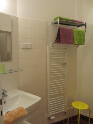 Badvorraum mit Blick vom Flur