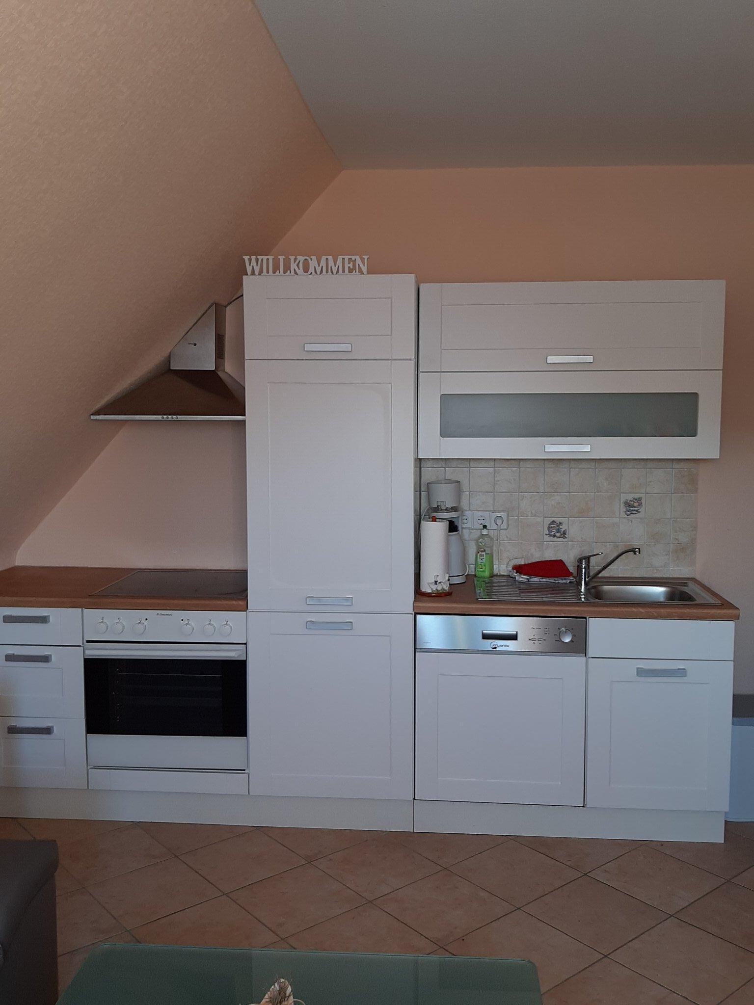 Küche der Erdgeschoßwohnung