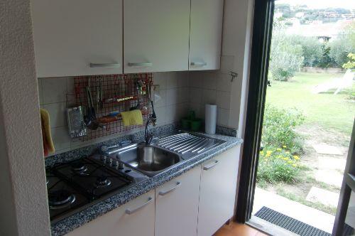Küche und hinterer Garten