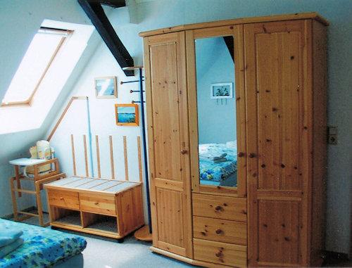 Kleiderschrank-Kofferablage Schlafzimmer