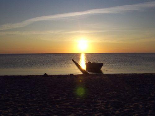 Romantisch - Sonnenuntergang am Bodden