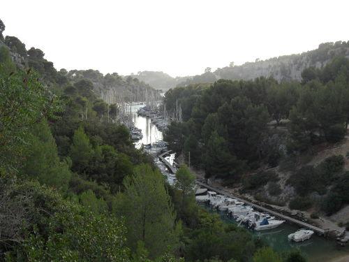 Der natürliche Hafen Port Miou in Cassis