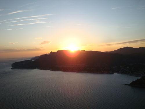 Sonnenuntergang über den Calanques