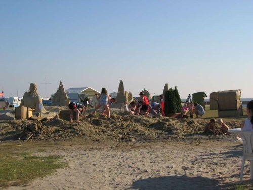 Strandburgen, Spielplatz für Kinder