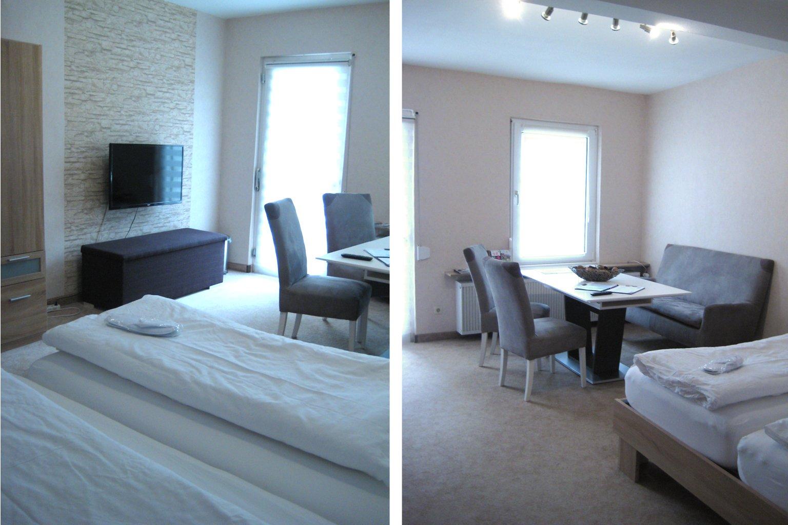 1. Etage, Wohn u. Schlafzimmer-Terrasse