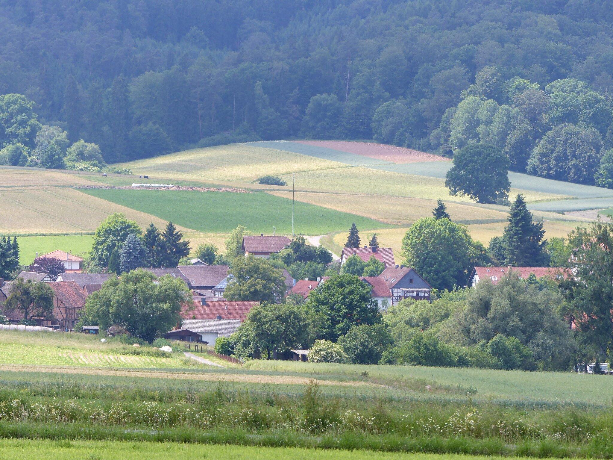 Burgwald, Blick auf Bracht