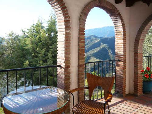 Terrasse vor dem Eingang