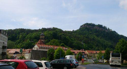 Das Zentrum Königsteins mit Festung