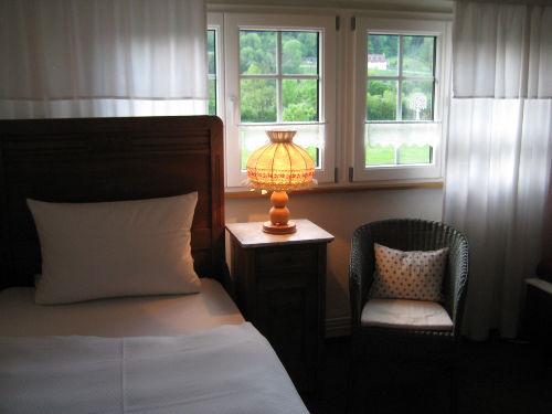 Blick vom Schlafzimmer (Bett&Schlafsofa)