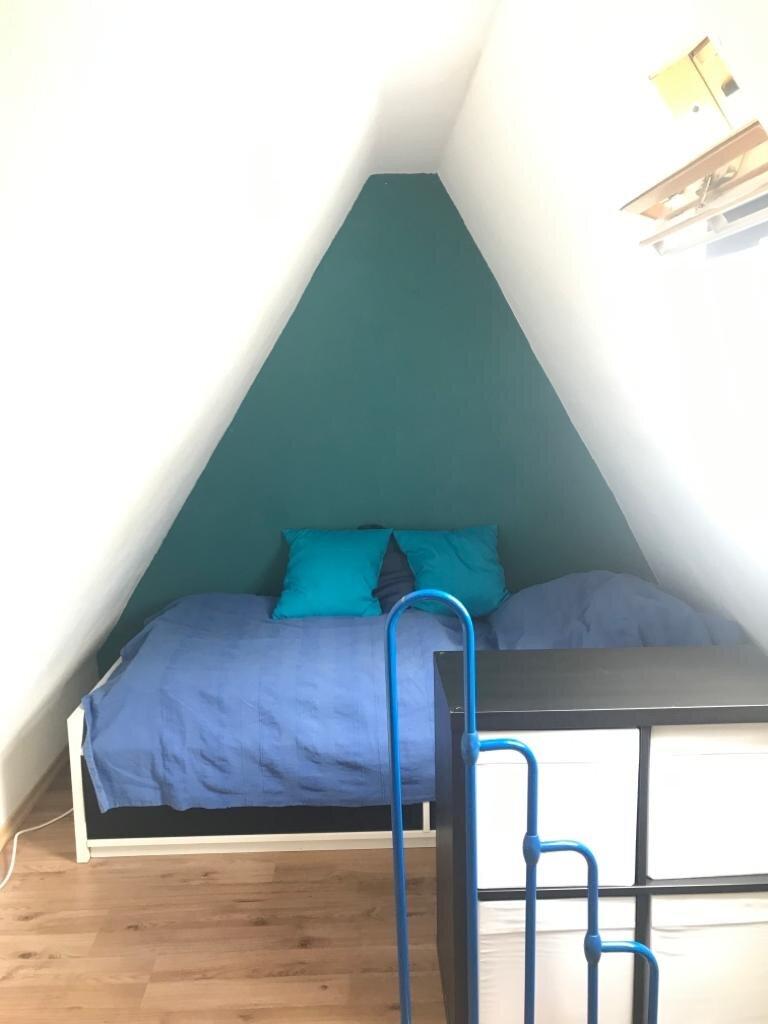 Dachgeschoss mit Doppelbett