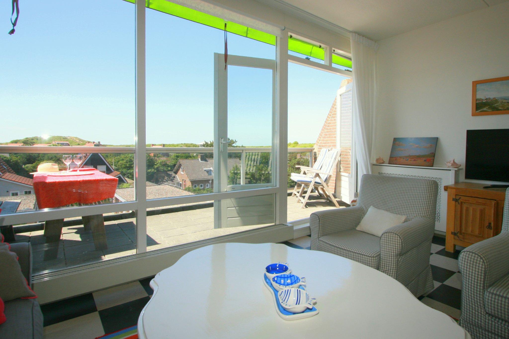 Wohnzimmer mit blick auf die Dünen