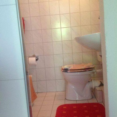 WC und Dusche im Erdgeschoss
