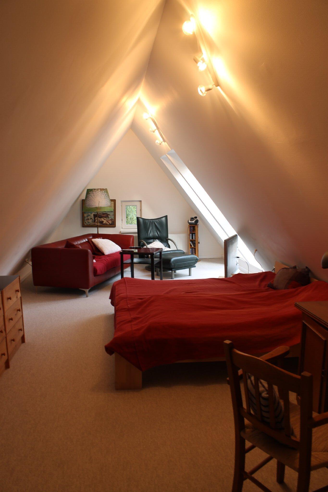 Spitzboden mit 3. Doppelbett