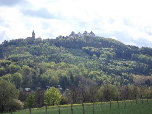 Blick zum Schloss Augustusburg