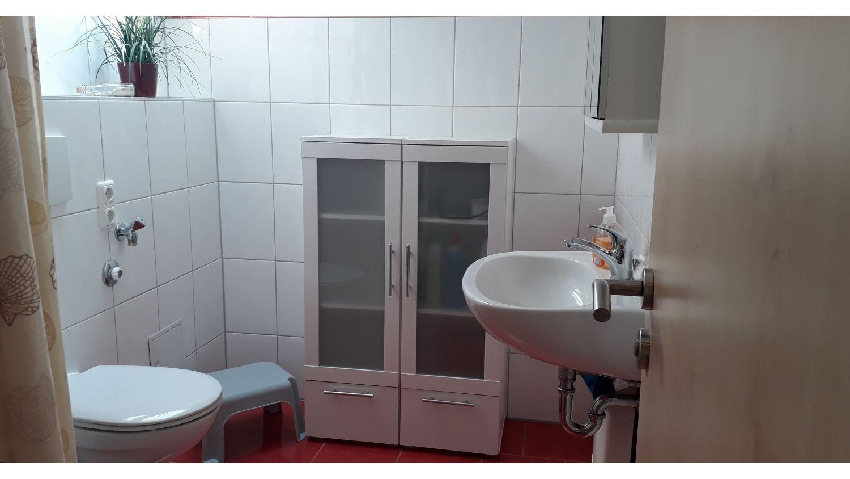 Das Bad, mit ebenerdiger Dusche