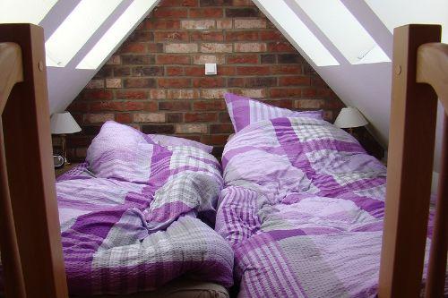 Schlafboden unter dem Dach