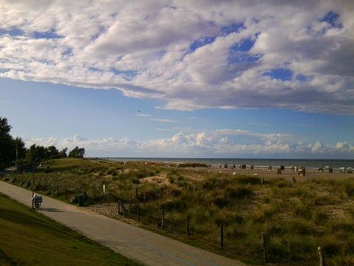 Blick vom Strandwarder auf die Ostsee