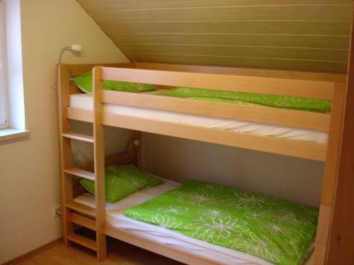 Etagenbett im Obergeschoss