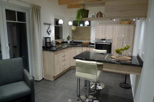 Küche und Wohnzimmer sind ein Raum