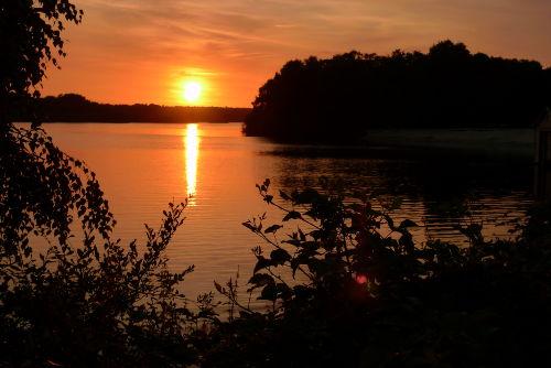 Sonnenuntergang überm See