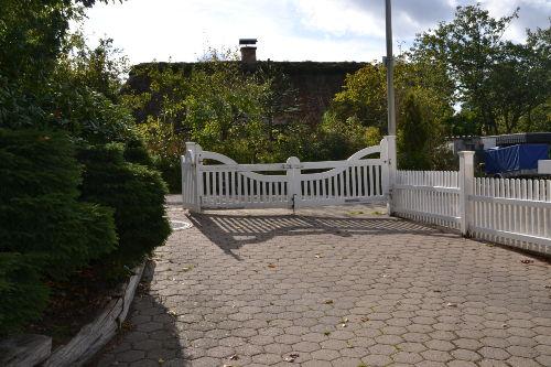 Zugang durch die Gartenpforte