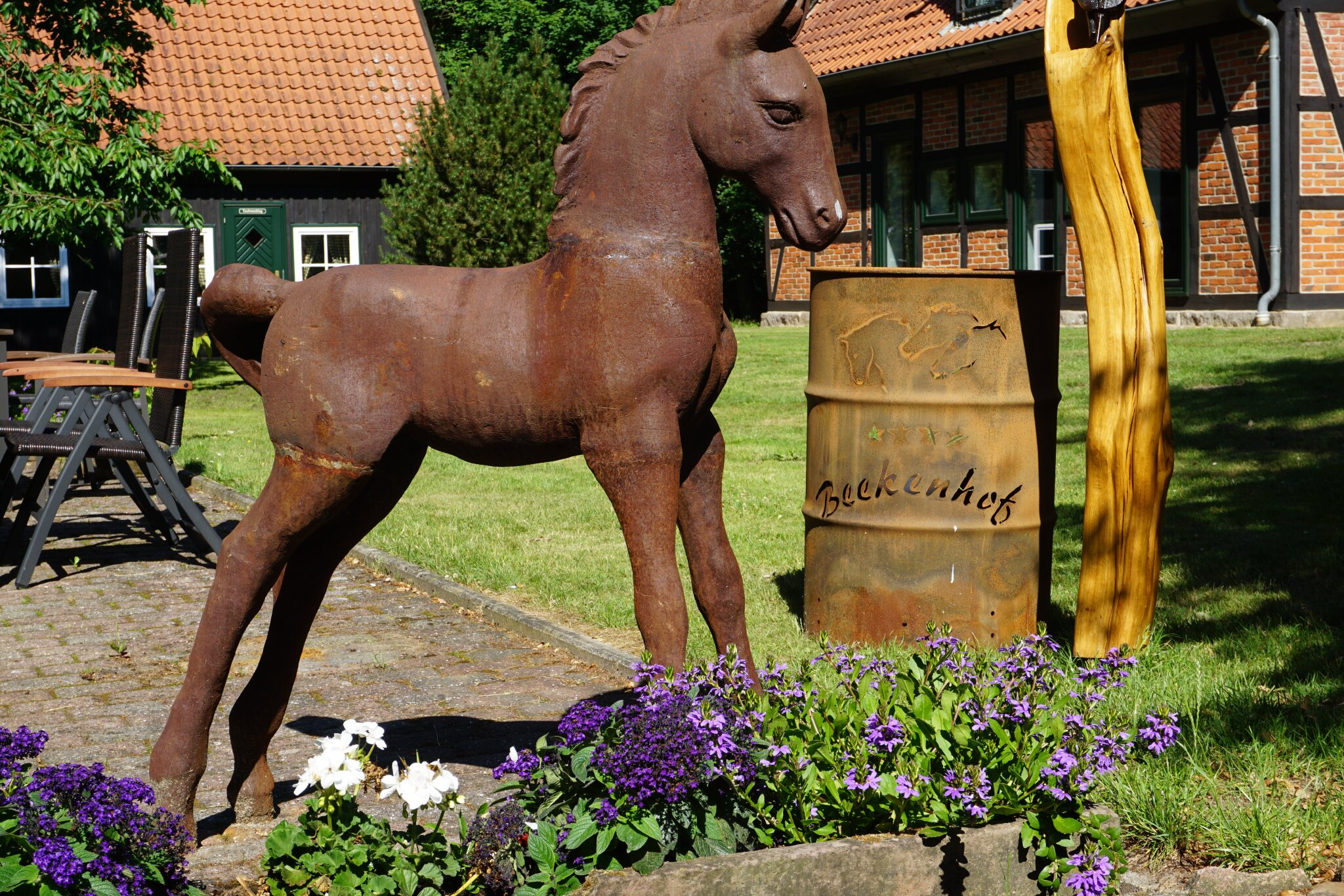Unsere Pferde genießen den Herbst
