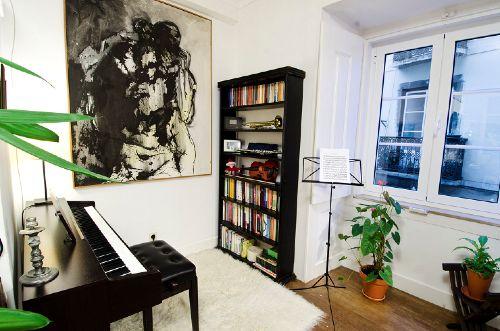 Musikecke im Wohnzimmer