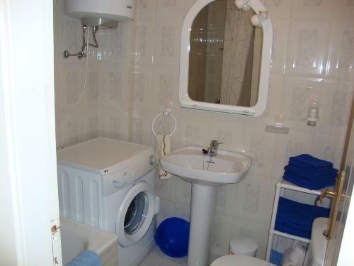 Badezimmer mit Dusch/Badewanne