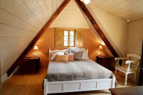 Doppelzimmer mit Dachterrasse im Dach