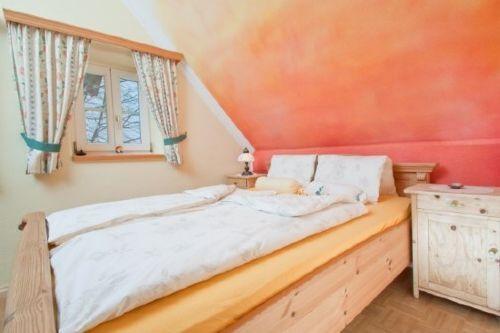 Doppelbett im Morgenrot