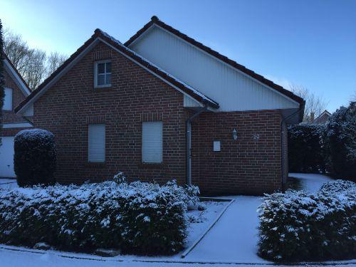 Au�enansicht bei Schnee