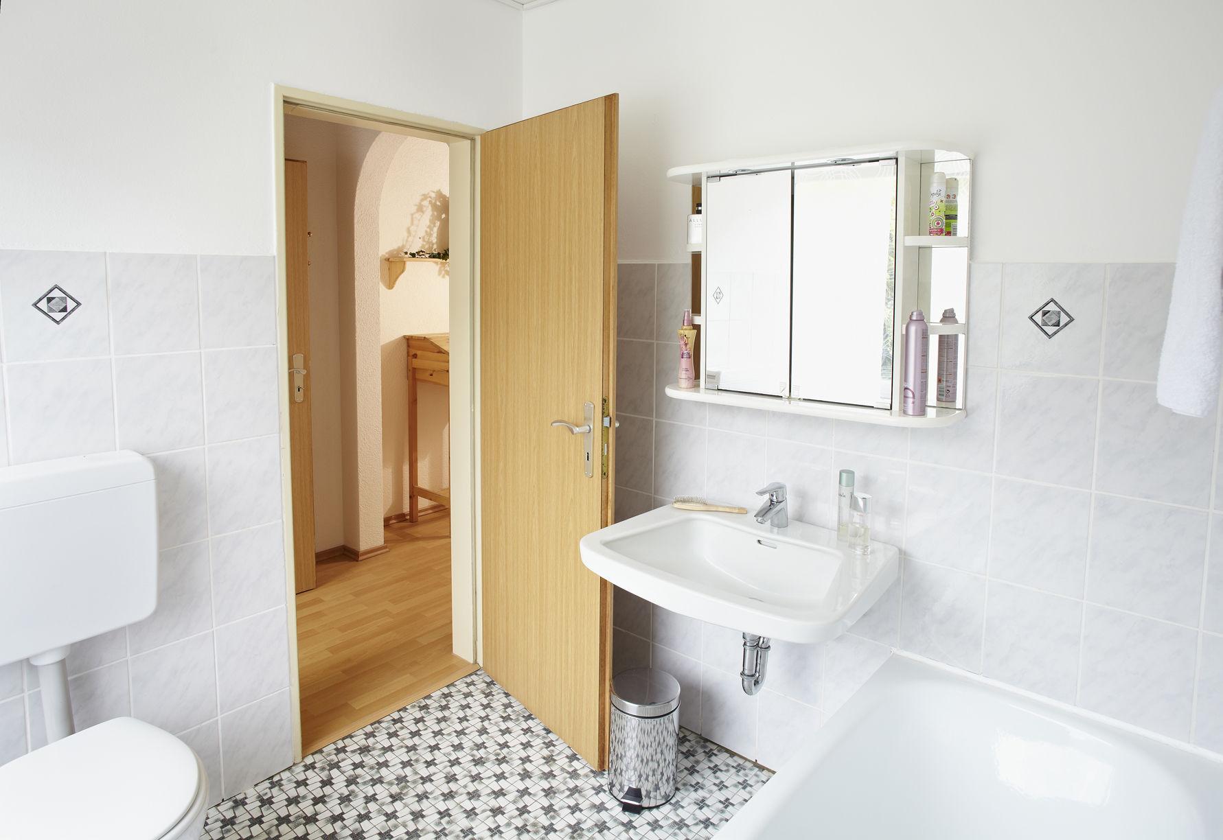 Schlafzimmer 1 Etage mit Rheinaussicht