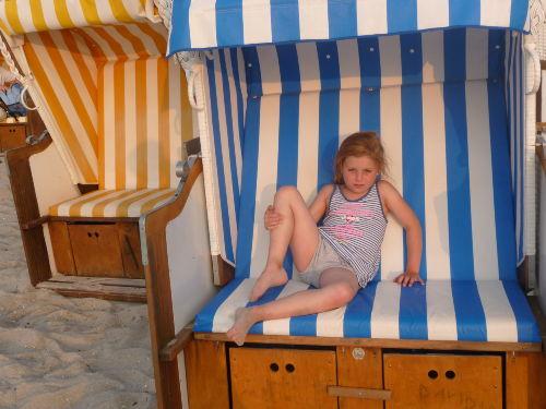 ausruhen im Strandkorb