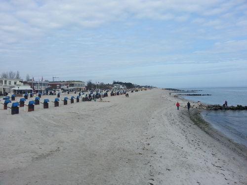 Strand - Grömitz im März