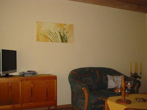 Wohnzimmer in der Entenwohnung