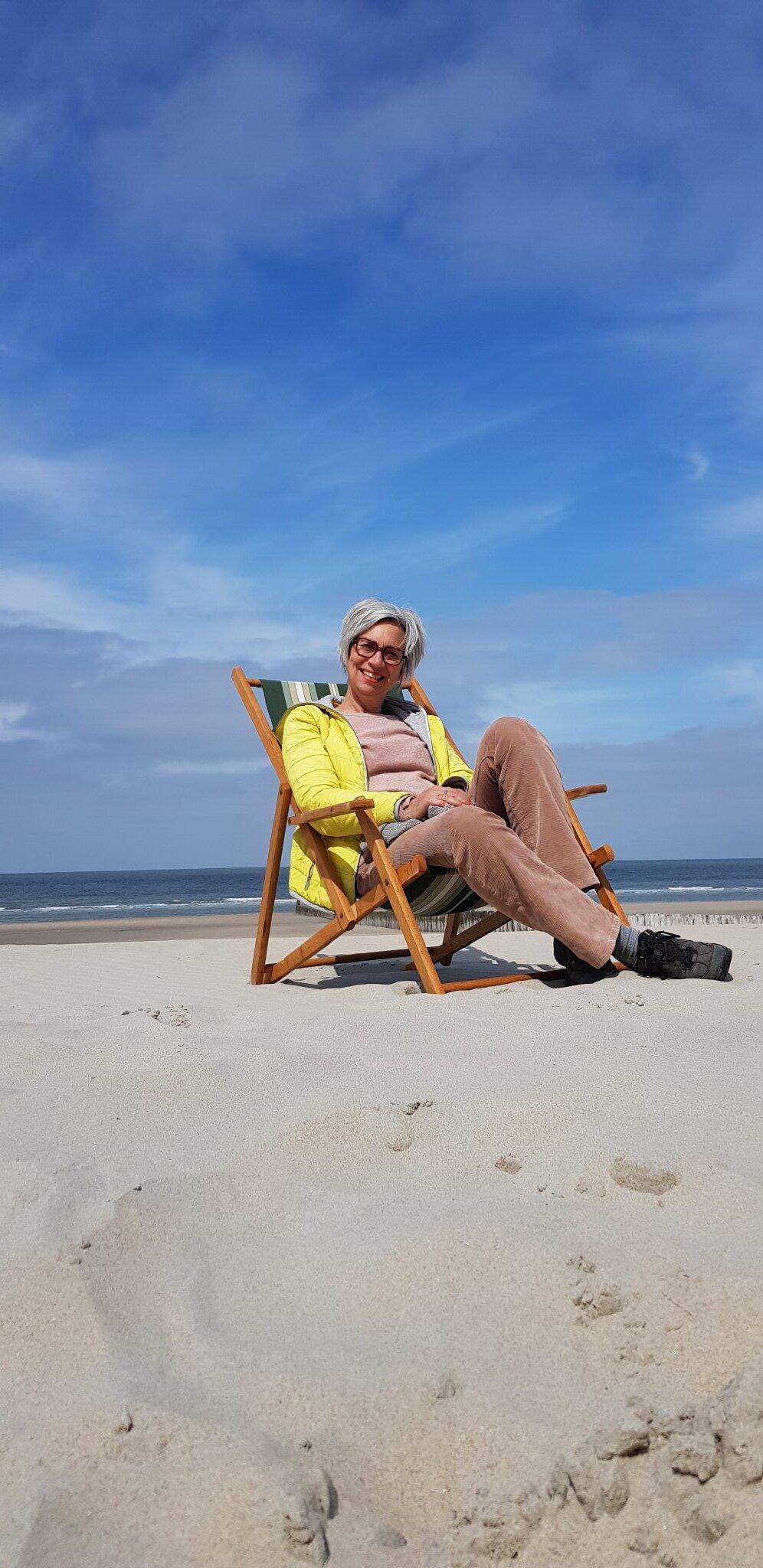 Am strand im Domburg