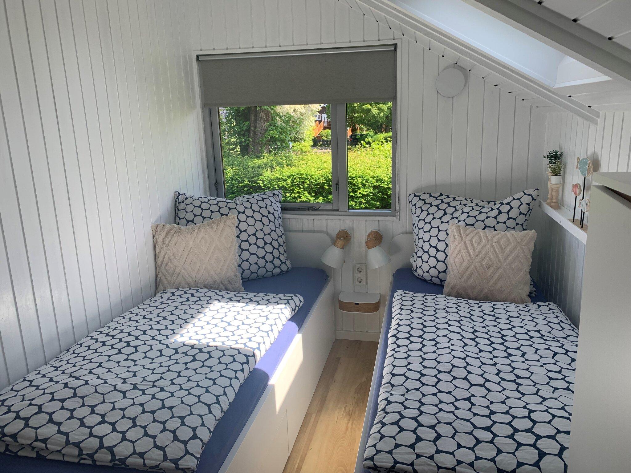 Das zweite Schlafzimmer mit Einzelbetten