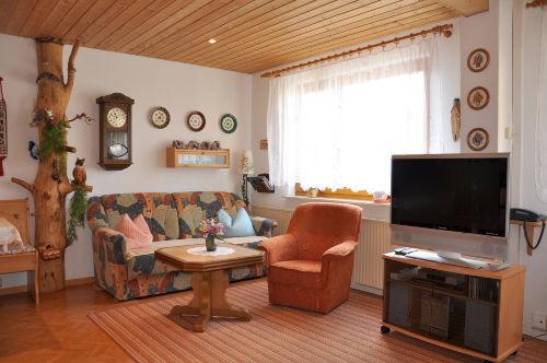 Blick in das Ferienhaus (Wohnbereich)