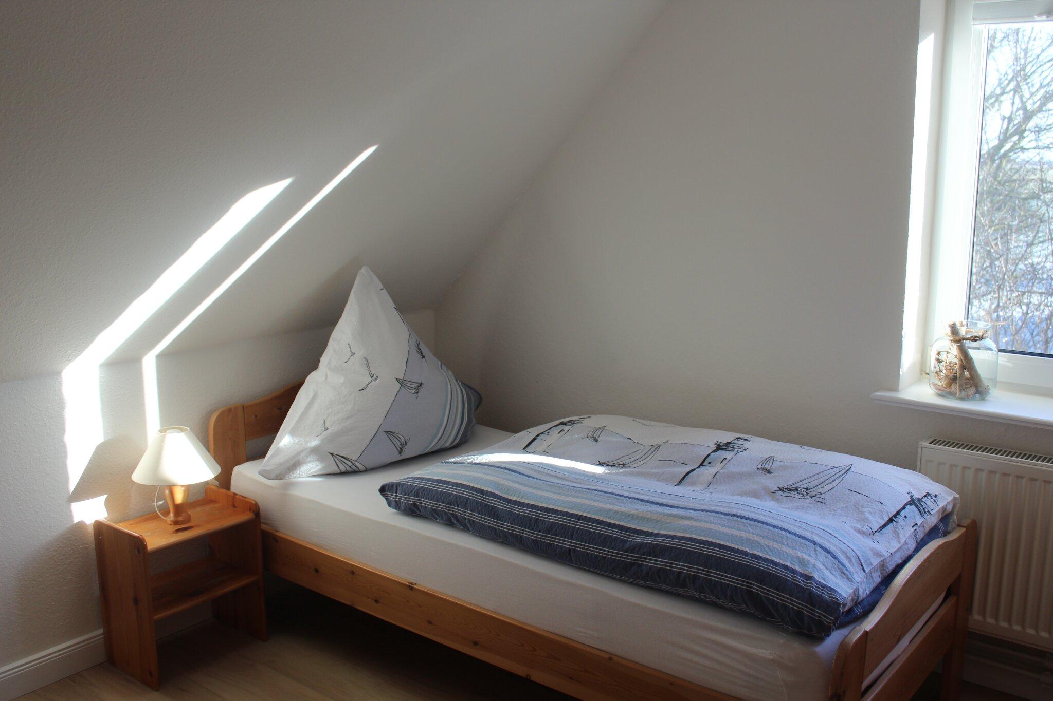 Der Einblick ins kleine Einzelzimmer